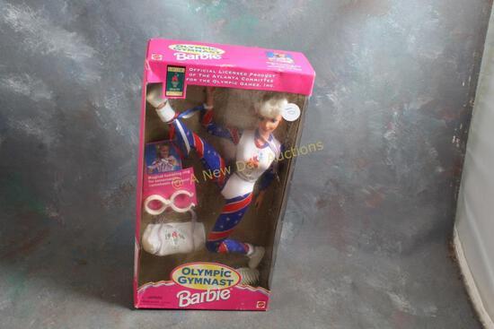 1995 Olympic Gymnast Barbie Doll in Box