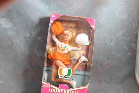 1996 University Miami Barbie Doll in Box