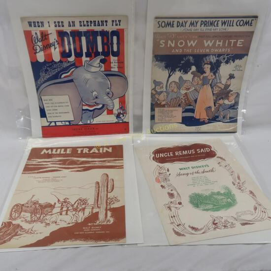 4 Walt Disney Music Company sheet music