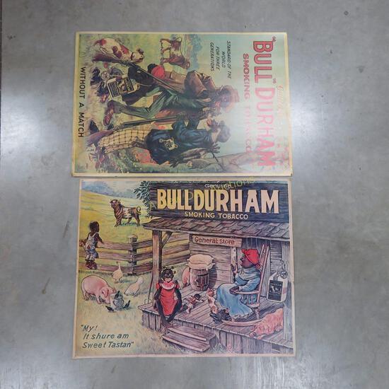 2 Bull Durham Reproduction Black Americana Posters
