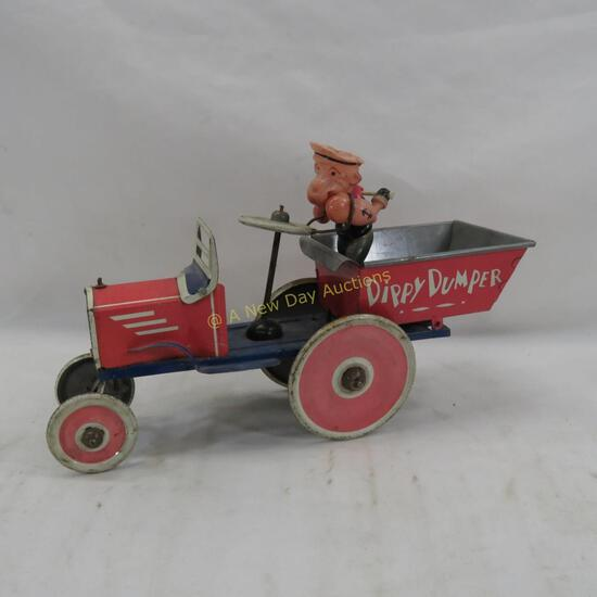 Popeye Dippy Dumper Windup Truck