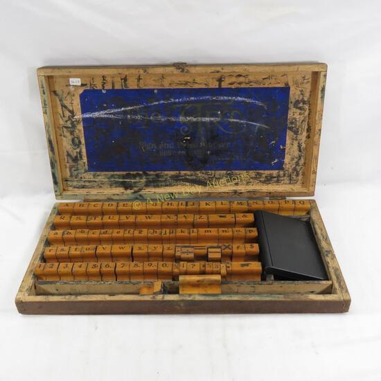 Antique The Art Sign & Price Marker Stamp Kit