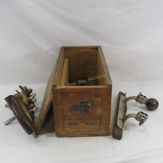 Stanley No. 45 Beading Plane in Original Wood Box