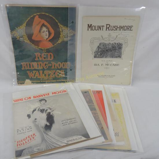 19 vintage pieces of sheet music