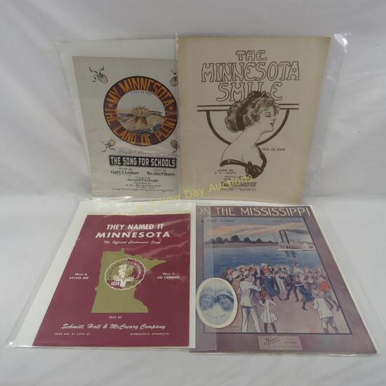 4 vintage Minnesota sheet music pieces