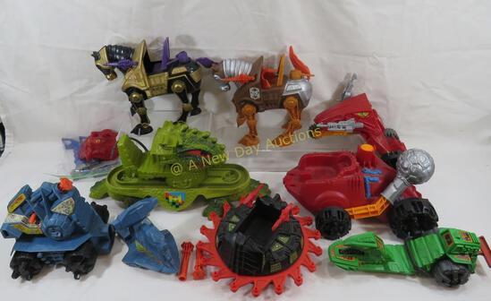 He-Man MOTU Vehicles and horses