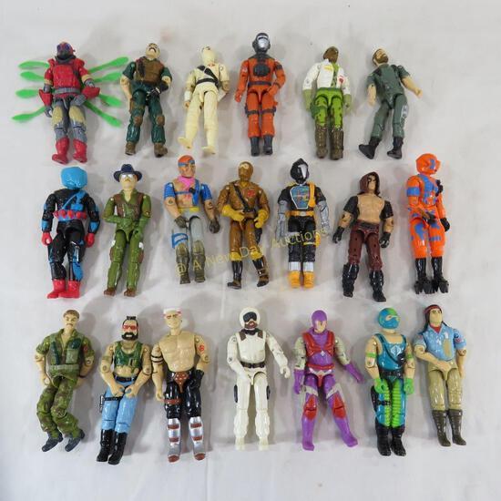 20 1980's GI Joe Action Figures with Zartan
