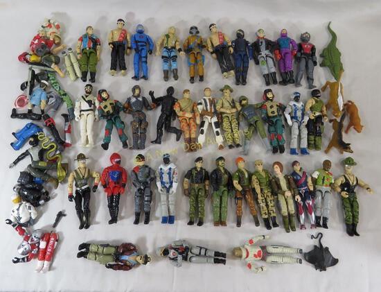 35 1980's GI Joe Action Figures with Extras