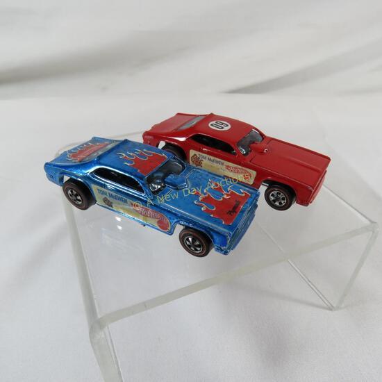 2 Hot Wheels Redlines Tom McEwen - blue & red