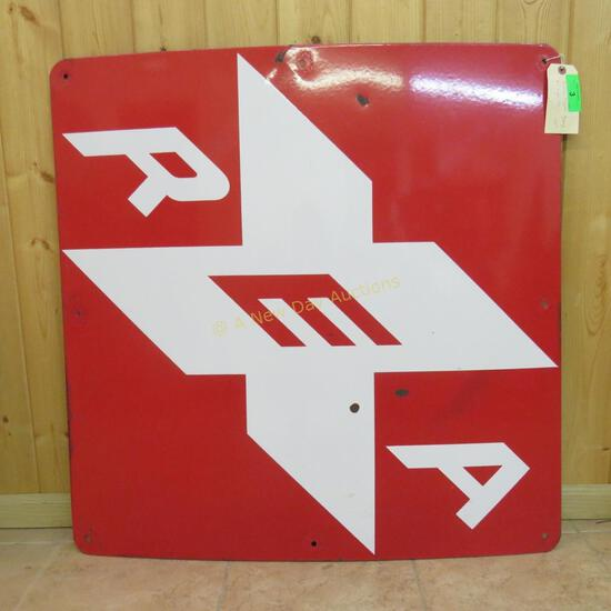 "1960's Railway Express Agency ""X"" Sign- 50"""