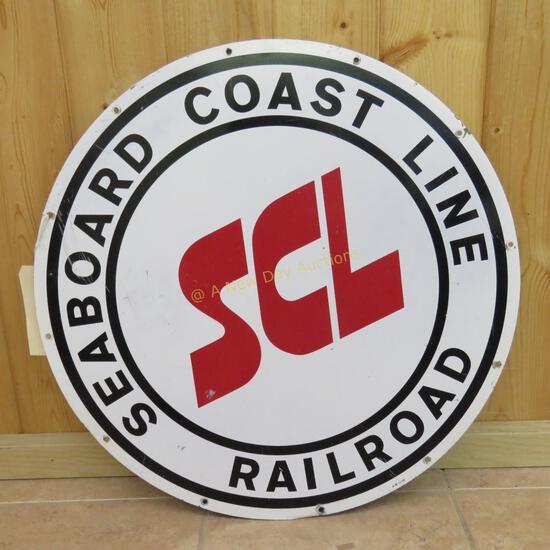 "Seaboard Coastline Railroad Sign 24"""