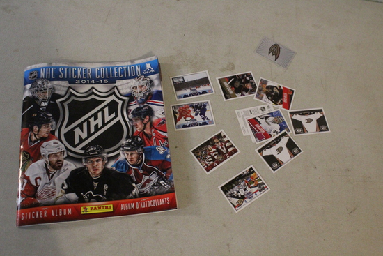 2014-15 NHL Sticker Collection Book + Some Loose