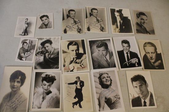 15+ Original Real Photos Signed Jack Palance