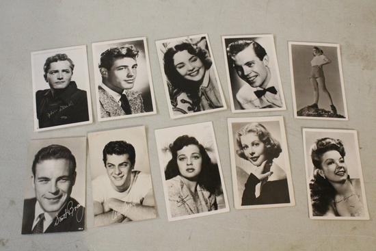 10 Real Photo Postcards Movie Stars Unposted