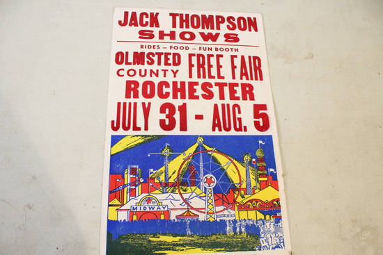 """1978 Olmsted County Fair Poster 21.75"""" x 14"""""""