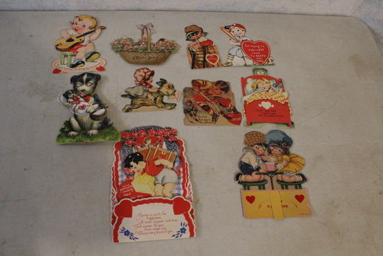Mid Century Lot Valentines Most with Moveable Parts