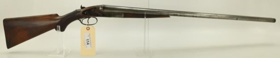 "Lot #114 -LefeverMdl SxS Shotgun12 GaSN#  5949~~30"" BBL, 46"" OAL, Light Engraving,  Locks"