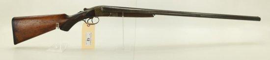 "Lot #12 -Hopkins & AllenMdl SxS Boxlock  Shotgun12 GaSN# 20380~~30"" BBL, 46"" OAL,  Finish"