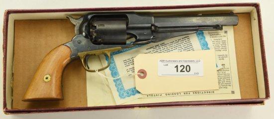 "Lot #120 -Navy ArmsMdl New Remington Revolver Repro.36 PercSN# 1424~~6.5"" BBL,  New in Box,"