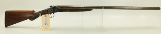 "Lot #126 -LeaderMdl SxS Hammer Shotgun12  GaSN# 321459~~30"" BBL, 46.5"" OAL. Badly  cracked/"
