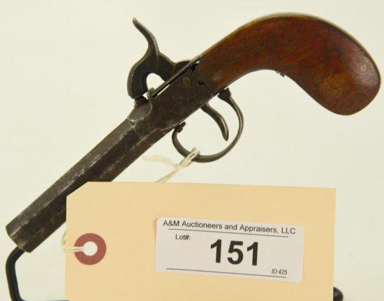 Lot #151 -Unk Maker BelgiumMdl Screw barrel  SS Perc Pocket Pistol.45 PercSN# None~~