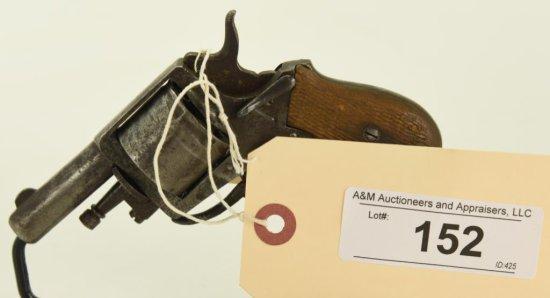 Lot #152 -Unk. Maker (Belgian?)Mdl Small DA  Revolver w/Folding Trigger.30 RF +/-SN#  14~~