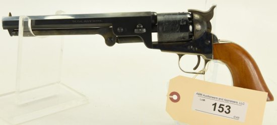 Lot #153 - Lyman Mdl Reproduction Navy Mdl  Revolver .36 Cal SN# 79908~~ Blued BBL. Wood  Grip.
