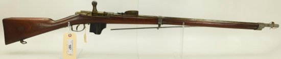 "Lot #187 -Dutch Beaumont VitaliM1871/88  Bolt Action Rifle11.3mmSN# N745~~32"" BBL,  52""OAL"
