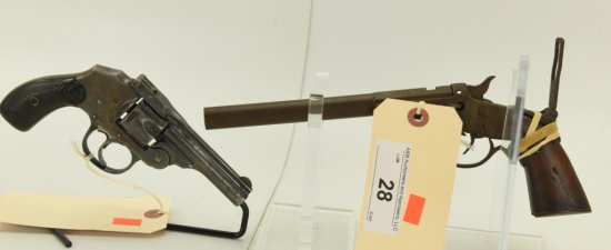 Lot #28 -1 Revolver & 1 Pistol to Include: Iver Johnson Arms & Cycle WorksMdl Safety Hammerless