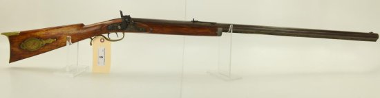 "Lot #5 -Unk. MakerMdl Percussion Sporting  Rifle.33 Perc +/-SN# None~~33"" BBL, 50""  OAL,"