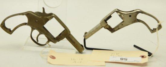 Lot #58 -2 Antique Amer. Bulldog Rev frames to include