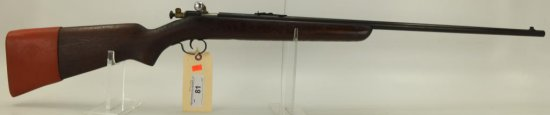 "Lot #81 - Winchester  Mdl 67-22 Bolt Action  Rifle .22 Cal SN# NSN~~ 27"" BBL, 44"" OAL,  Single"