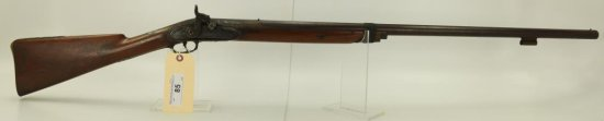 """Lot #85 -HapgoodMdl Perc. Fowler, Made from  Musket,.58 Cal +/-SN# None~~32"""" BBL, 49""""  OAL"""