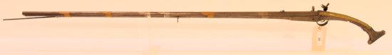 Lot #34 - Unknown MakerMdl Flintlock Camel  Gun Turkish/Syrian Origin Possibly.65 Cal  +/-