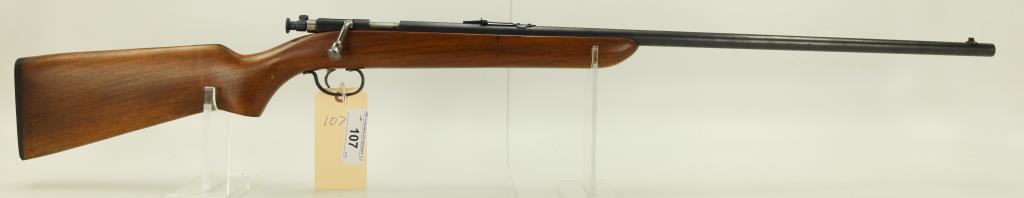 "Lot #107 -RemingtonMdl 41 Targetmaster Bolt  Action Rifle.22 CalSN# 313493~~27"" BBL.  44"""