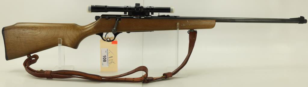 "Lot #108 - Marlin - Glenfield Mdl 25 Bolt  Action Repeater Rifle .22 Cal SN#  72380027~~ 22"" BBL,"