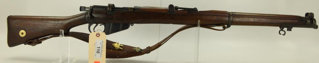 "Lot #110 - Lee Enfield Mdl Sht Le III Bolt  Action Rifle .303 Cal SN# R4058~~ 25"" BBL.  43"" OAL"