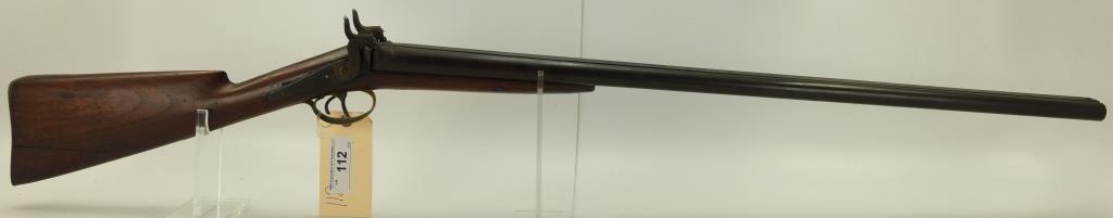 """Lot #112 -Unk Maker BelgiumMdl SxS Perc.  Hammer Shotgun12 GaSN# None~~31.5"""" BBL,  47.5"""""""