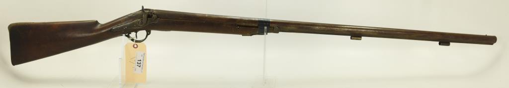 Lot #137 -H. Pratt (English)Mdl Perc  Shotgun Single BBL8 GaSN# None~~