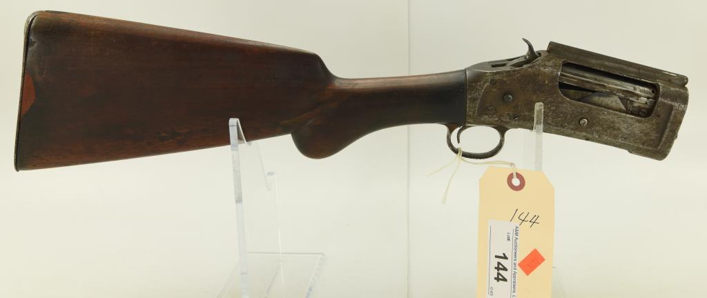 Lot #144 -WinchesterMdl 1897 Pump Action  Shotgun - Frame, Trigger Assembly & Shoulder  stock
