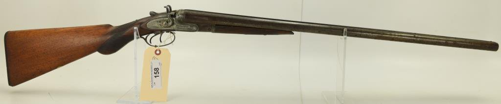 Lot #158 -W. ParkhurstMdl SxS ShotgunLot #158 -W. ParkhurstMdl SxS Dbl. Barrel  Shotgun