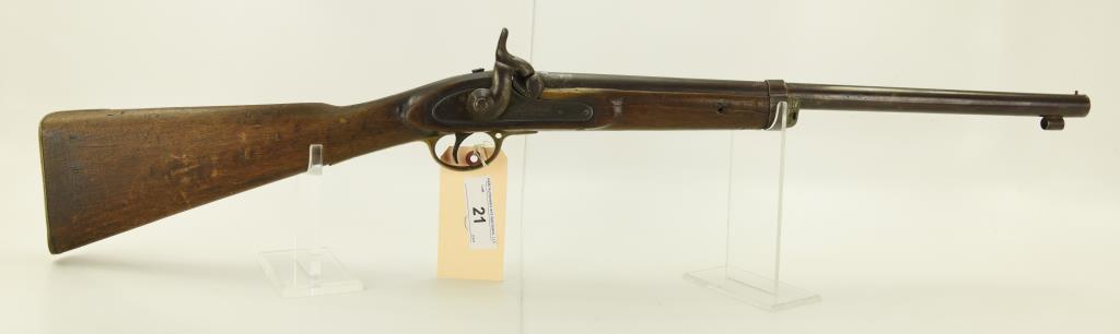 "Lot #21 -Potts & HuntMdl Perc.  Musket-London.60 Cal +/-SN# None~~20"" BBL,  36.75"" OAL,"