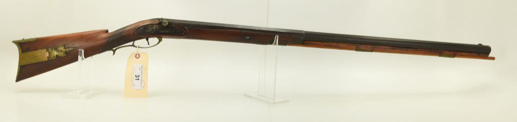 """Lot #31 -A. Whiting & CoMdl Percussion  Rifle.69 Perc +/-SN# None ~~35.75"""" Half  Octagonal/"""