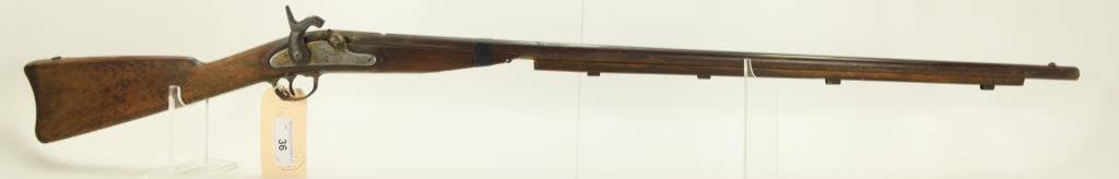 "Lot #36 -US/BridesburgMdl 1861 C.W.  MusketW/1863 Lock Date. 58 CalSN# None~~40.5"" BBL,"