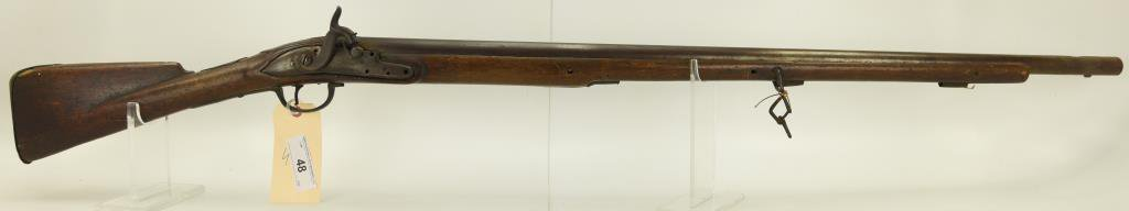 """Lot #48 -M. Hampshire, Sr Mdl Perc. Musket  conv. From Flintlock.80 Cal +/-SN#  None~~35.25"""""""