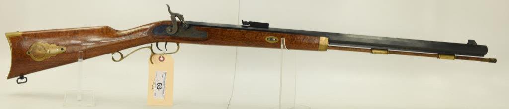 "Lot #63 -CVAMdl Hawken Black Powder  Rifle.54 CalSN# 701433~~28"" BBL, 45"" OAL,  Brass Accents,"