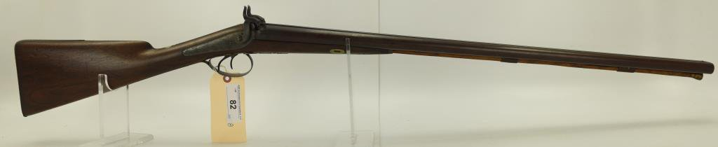 "Lot #82 - Lane & Reid (Boston) Mdl SxS  Percussion Shotgun 12 GA SN# None~~ 30"" BBL,  46"" OAL,"