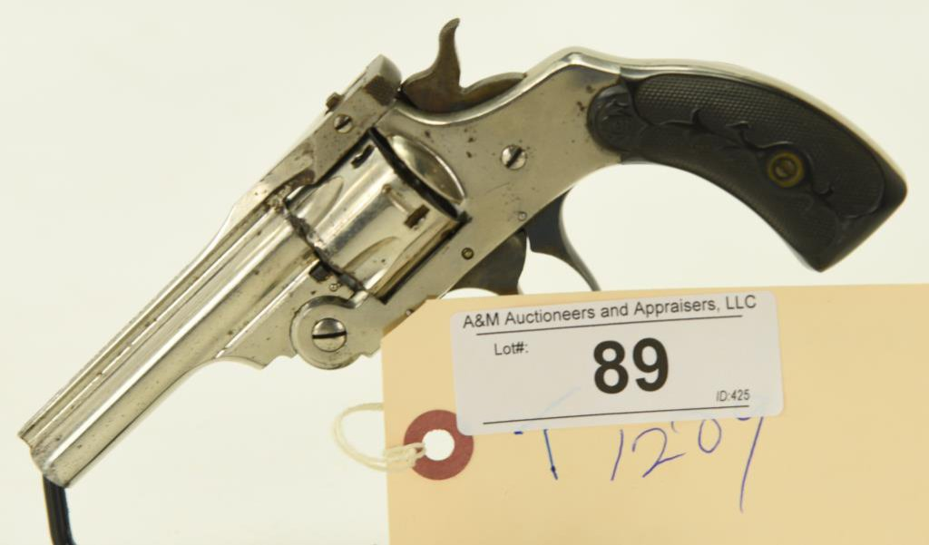 "Lot #89 - Forehand & Wadsworth Mdl  ""Perfection"" D.A. Top Break Revolver .32  CF SN 6710~~"