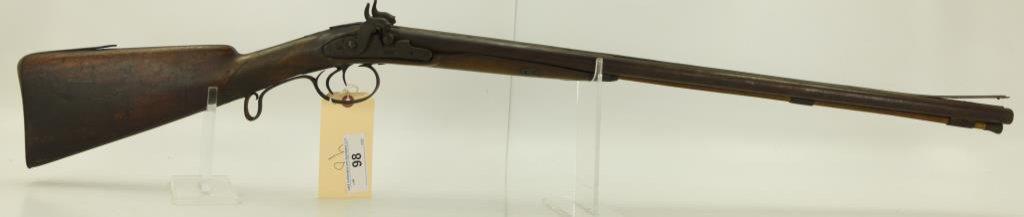 "Lot #98 -Unk. MakerMdl SxS Percussion  Hammer Shotgun20 GaSN# None~~27"" BBL,  43.5"" OAL,"