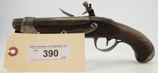 Lot #390 -Charleville Flintlock Belt Pistol